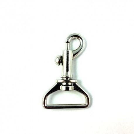 Swivel Eye Bolt Snap Hook Nickel Plated 2 Inches X 1 4 Inch
